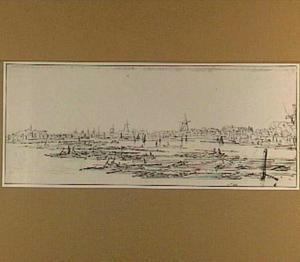 Houtvlotten op de Biesbosch bij Dordrecht