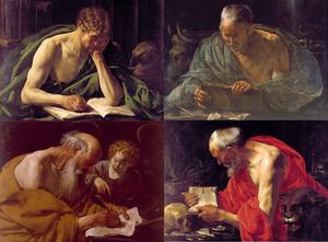 Serie van de vier evangelisten: Marcus, Johannes, Matteüs en Lucas