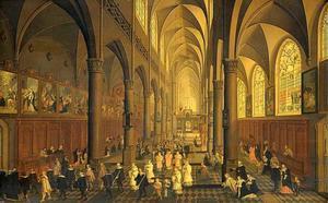 Interieur van de Dominicaner St. Pauluskerk in Antwerpen