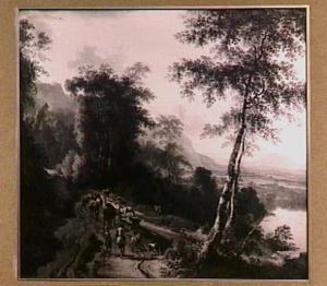 Landschap met veedrijvers