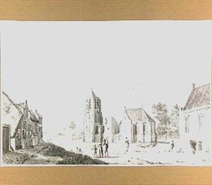 De kerk te Acquoy, gezien vanuit het zuiden