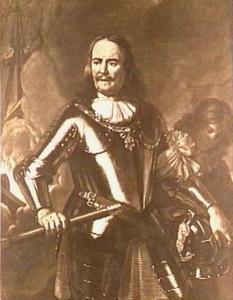 Portret van Michiel Adriaensz. de Ruyter (1607-1676), met een bediende