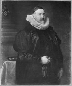 Portret van de Antwerpse stadsaalmoezenier Adriaen Stevens (?-?) op 68-jarige leeftijd