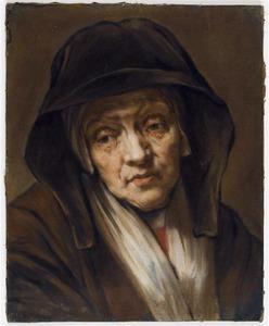 Kop van een oude vrouw