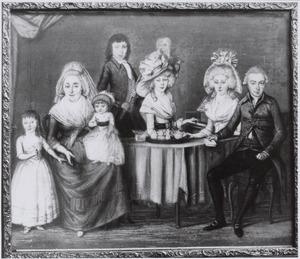 Portret van de familie van Pieter van der Wallen van Vollenhoven (1748-1812)  en Cornelia van der Wallen (1750-1816)