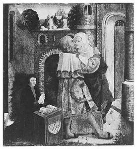 De ontmoeting van Joachim en Anna bij de Gouden Poort