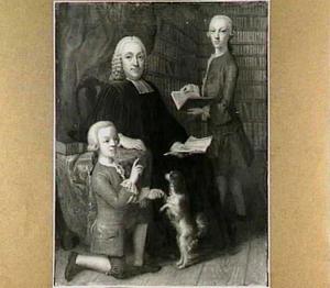 Portret van Jean Royer (1705-1783) en zijn zonen Jean Théodore en Alexandre Jérôme