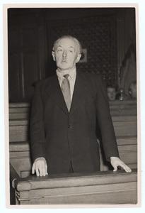 Han van Meegeren tijdens zijn proces