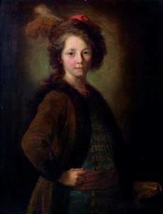 Een jongen in Pools kostuum
