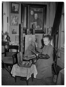 Agnieta Cornelia Gijswijt in haar atelier