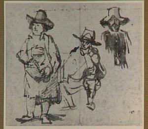 Studies van mannen met hoeden