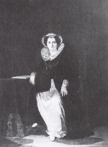 Portret van Geertruida Jacoba Hilverdink (1786-1827) in het karakter van Maria Stuart