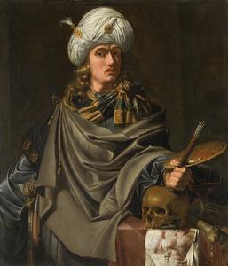 Zelfportret van Johannes van Swinderen (1594-1636)