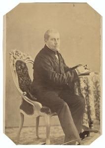 Portret van Willem Marinus Stephanus Junius (1810-1881)