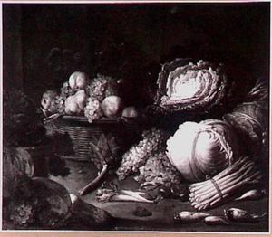 Stilleven van vruchten en groente
