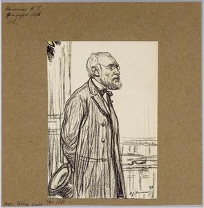 Portret van de kunstenaar Jozef Israëls