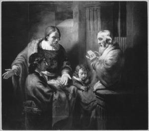 Jacob ontvangt de bebloede mantel van Jozef (Genesis 37:32-35)