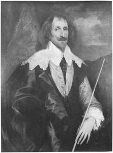 Portret van Philip Herbert, 4th Earl of Pembroke, de Lord Chamberlain met de versierselen van de Orde van de Kousenband