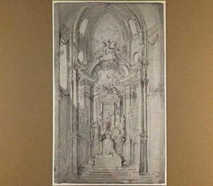 Ontwerp voor gelegenheidsdecoratie op het hoofdaltaar van de St. Augustinuskerk te Antwerpen