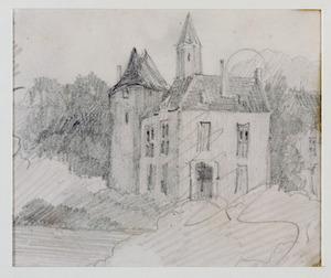 Kasteel Waardenburg, gezien vanuit het westen
