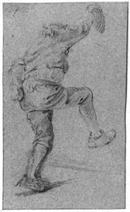 Dansende boer, rugfiguur