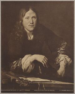 Portret van een man, mogelijk een zelfportret van Adriaen van der Velde (1636-1672)