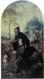 Portret van Antonio Siciliano met de H. Antonius