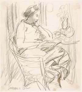 Amrey (Annemarie Balsiger) lezend