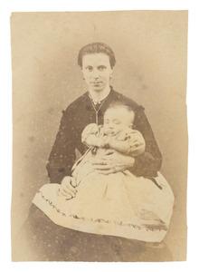 Portret van Theresia Maria Ida Donkersloot (1848-1915) en Willem van Woerkom (1870-...)