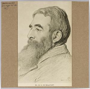Portret van mr. W.H. de Beaufort