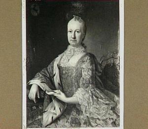 Portret van Jacoba Machtildis Boot (1692-1779), echtgenote van Reiner Bernardus Hoynck van Papendrecht (1687-1769)