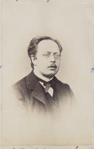 Portret van een man, waarschijnlijk Gaetano Theodorus Nicolaus Gori (1832/1833-...) of Thijs Sprée (1820-1870)
