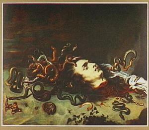 Het afgehakte slangenhoofd van de Gorgo Medusa