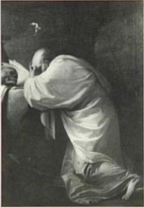 Een mediterende monnik