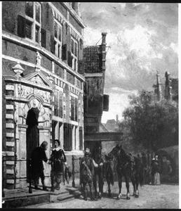 De ingang van het stadhuis te Hoorn