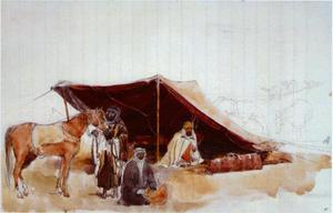 De tent van Wilfred Scawen Blunt en Lady Anne Blunt gebruikt op hun reizen