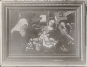 De Heilige Familie met Anna en een engel