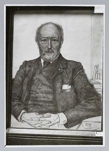 Portret van Mr. Patijn, Commissaris der Koningin van de Provincie Zuid Holland
