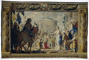 Orestes en Pylades voor Iphigenia