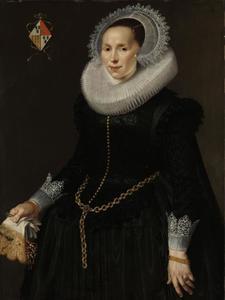 Portret van Johanna le Maire, echtgenote van Pieter van Son