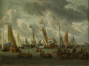 Het spiegelgevecht op het IJ ter ere van het Moskovisch gezantschap op 1 september 1697