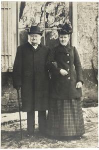 Portret van Nicolaas Beets (1814-1903) en een vrouw uit familie Beets