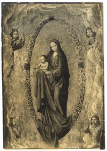 Maria met kind in een mandorla van rozen