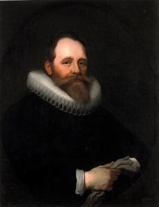 Portret van Dirck Jacobsz. Bas (1569-1637)