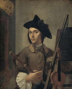 Zelfportret van Gerrit Backhuijzen (1721-1760)