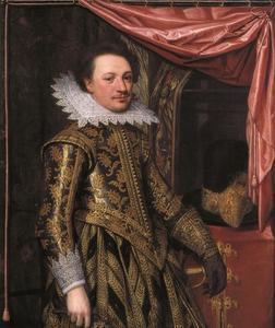 Portret van een officier, mogelijk Walraven IV van Brederode (1596/97-1620) of Reinoud van Brederode (1597-1618)