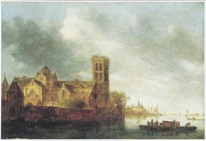 Rivierlandschap met de Utrechtse Mariakerk