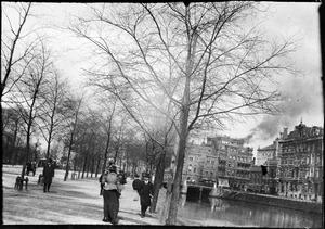 Gezicht op de Singelgracht te Amsterdam