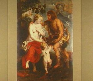 Meleager biedt Atalanta de kop van het Caledonische everzwijn aan
