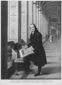 Portret van de graveur J. De Meulemeester in de Loggie van het Vaticaan te Rome